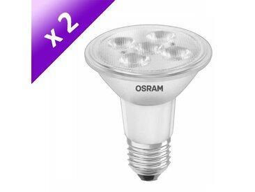OSRAM Lot de 2 Ampoules spot LED E27 PAR20 5 W équivalent à 51 W blanc chaud dimmable variateur