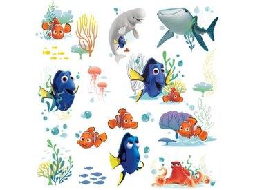 ROOMMATES Lot de 19 stickers DISNEY LE MONDE DE DORY repositionnables 4 feuilles de 10,1cm x 44,1cm