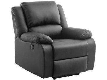 RELAX Fauteuil relaxation Electrique - Simili noir - L 88 x P 93 x H 96 cm