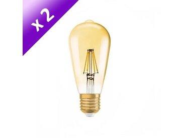 OSRAM Lot de 2 Ampoules LED Vintage Edition 1906 E27 7 W équivalent à 54 W blanc chaud dimmable variateur