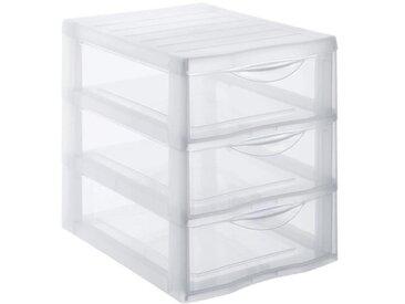 SUNDIS Tour de rangement Orgamix A5 3 tiroirs 25,5x18,5x25,5 cm transparent