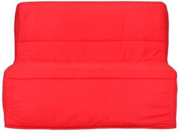 Banquette BZ - Tissu Rouge - L 122 x P 101 x P 95 cm - EVA