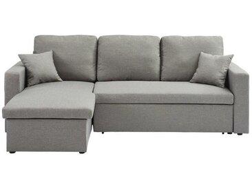 ASPEN Canapé d'angle réversible convertible 3 places - Tissu gris clair - Contemporain - L 223 x P 150 cm