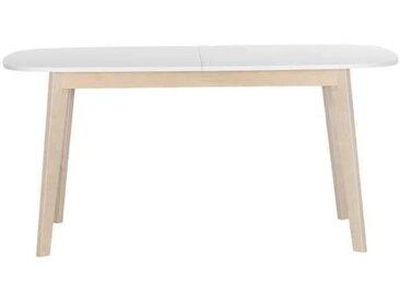 NAISS Table à manger extensible - 6-8 personnes + Plateau blanc - L 160 cm
