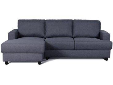 PAUL Canapé d'angle gauche 4 places - Tissu gris anthracite - Contemporain - L 215 x P 140 cm