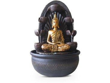 ZEN Fontaine d'intérieur avec statue Bouddha Chakra - Marron
