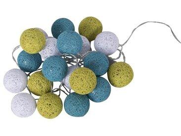 BUBBLE Guirlande lumineuse 20 lumières - 30 cm - Turquoise, anis et blanc