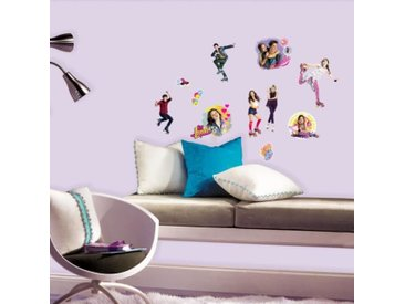 ROOMMATES Lot de 20 stickers DISNEY SOY LUNA repositionnables 4 feuilles de 10,1cm x 44,1cm