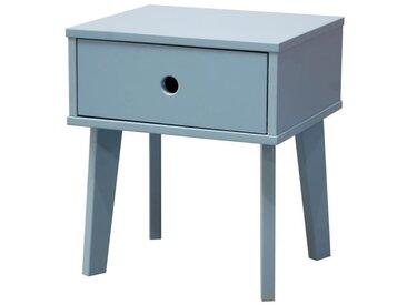 SACHA Chevet enfant scandinave bleu laqué - L 42 cm