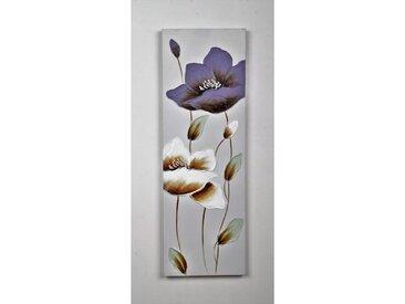 Tableau déco Fleurs  116 -  Toile peinte à la main  -  30 x 90 x 3 cm