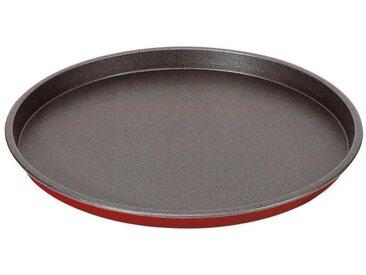 IMF Plaque à pizza en acier Rioja - Ø 29 cm - Rouge et gris