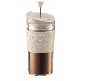 BODUM TRAVEL PRESS Mug à piston isotherme - 0,35 L - Blanc