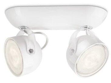 PHILIPS Barre de 2 spots d'éclairage LED Dyna- Blanc - Ampoules incluses