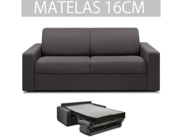 ITALIAN SPIRIT Canapé convertible 3 places RAPIDO MIDNIGHT - Tweed gris anthracite - Couchage : 140 cm