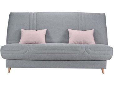 COMFORT BULTEX Clic clac 3 places - Tissu gris - Made in France - L 192 x P 95 x H 101 - MONA