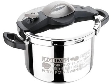 SITRAM - 711686 autocuiseur sitrapro inox 8l taupe + panier silicone + cuillere silicone grise induction