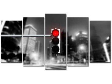 Tableau Déco Photo Urbaine Feu Rouge - 150x80 cm