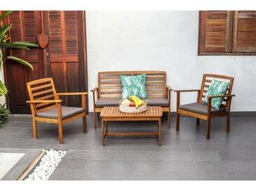 Salon de jardin en bois d'acacia FSC 4 places - LOMA
