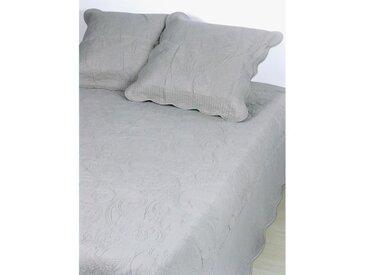 VENT DU SUD Couvre-lit BOUTIS 100% coton Byzance - 250x260 cm - Blanc perle