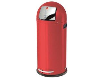 HAILO Poubelle à pédale KickMaxx 50L rouge avec seau