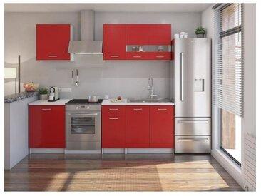 EXTRA Cuisine Complète avec plan de traval L 240 cm - Rouge mat