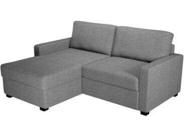 MALICIA Canapé d'angle reversible - Tissu gris - L 182 x P 147 x H 85 cm