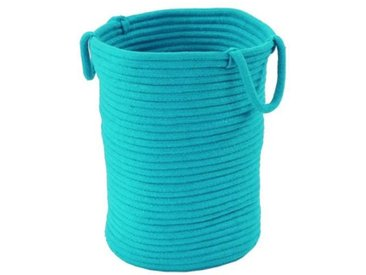 Panier Tamtam - 100% coton - 45x40x30 cm - Bleu turquoise