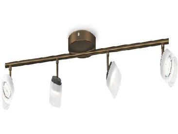PHILIPS Barre de 4 spots d'éclairage LED Fremont - Bronze - Ampoules incluses