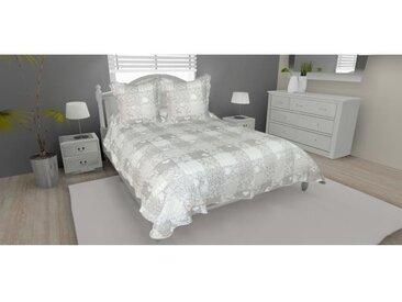 SOLEIL D'OCRE Couvre-lit boutis matelassé ANGEL avec 2 taies d'oreiller - 220x240 cm
