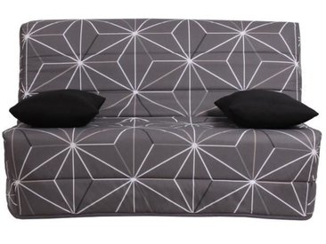 OPS 100% FRANCAIS - Banquette BZ 3 places LIOM - Tissu motif Saka - L 142 x P 96 cm