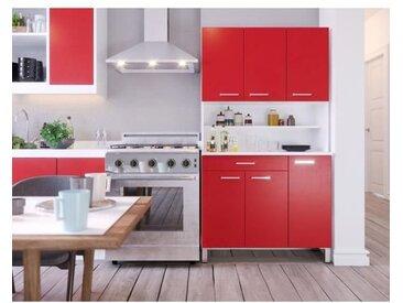 TACOMA Buffet de cuisine L 100 cm - Rouge mat