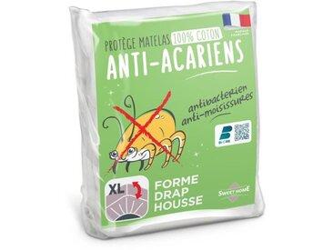 SWEETHOME Protège-matelas 100% coton - Anti-acariens - 90x190 /200 cm