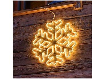 LOTTI Flocon de neige en tube néon - Ø 60 cm - 720 LED fixe - Blanc chaud - Lumière double face