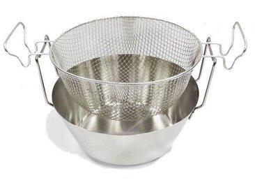 ARTAME Friteuse avec panier en inox - Fond thermique - Ø 30 cm - Gris