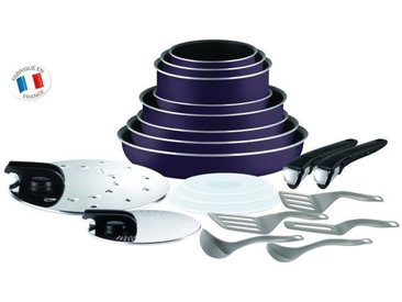 TEFAL INGENIO ESSENTIAL Batterie de cuisine 20 pièces L2029702 16-18-20-24-26-28cm Tous feux sauf induction
