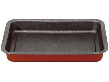 IMF Plat à four en acier Rioja - 35 x 23 x 3,5 cm - Rouge et gris