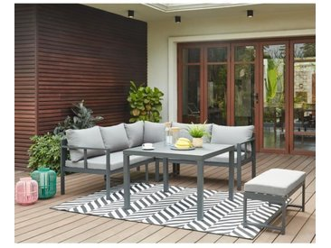 Salon de jardin en aluminium 6 personnes - Infini