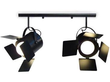 ABBAS Réglette Spot Tôle acier 60x12x80 cm Noir