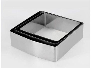 EQUINOX Lot de 3 moules à gâteau - 16-18-20 cm - Gris