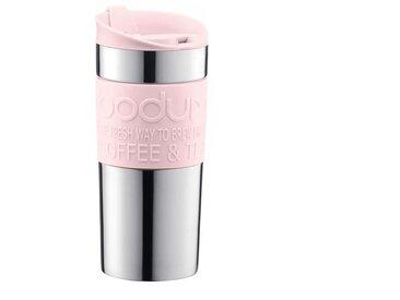 BODUM TRAVEL MUG Mug de voyage isotherme - Inox double paroi - Couvercle à clapet - 0,35 L - Rose pastel