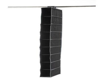 Etagère souple pour chaussures 9 niveaux URBAN en péva noir 15x30x128 cm