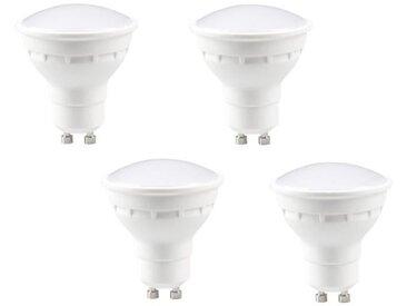 EXPERT LINE Lot de 4 ampoules LED Spot GU10 4 W équivalent à 30 W blanc chaud compatibles variateur