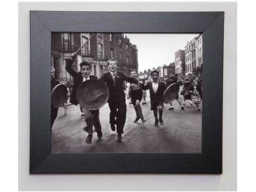 PHOTOGRAPHIE COLLECTION Image encadrée A l'attaque ! 31x37 cm Gris