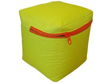 Pouf carré 40x40 cm vert anis