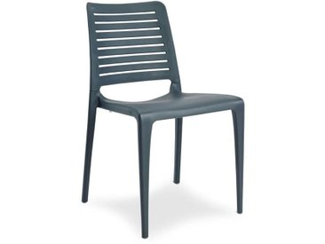 Chaise de jardin empilable PARK en polypropylène renforcé avec fibre de verre - GRIS ANTHRACITE