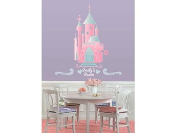 ROOMMATES Stickers DISNEY CHATEAU PRINCESSE PERSONNALISABLE repositionnables 102x47cm