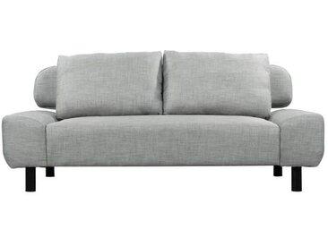ELIOT Banquette clic-clac convertible 2 places - Tissu gris clair - Style contemporain - L 186 x P 93 cm