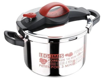 SITRAM - 711687 - autocuiseur sitrapro inox 8l rouge + panier silicone + cuillère silicone grise induction