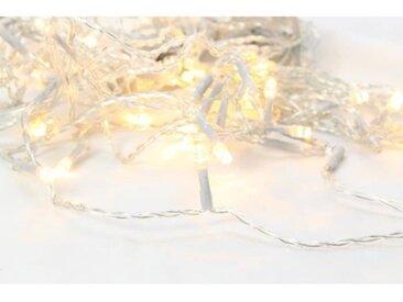 BLACHERE Rideaux Flicker 96 LED Blanc chaud auto-flash - L 2 x H 2 m - Connectable 3 fois -Câble Argent 24V