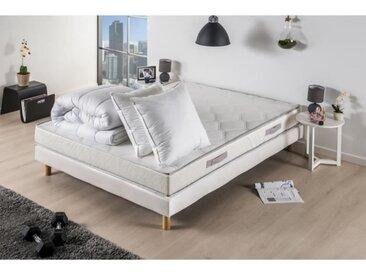Pack prêt à dormir TOUT DOUX - Matelas + sommier 160x200 + couette + 2 oreillers - DEKO DREAM